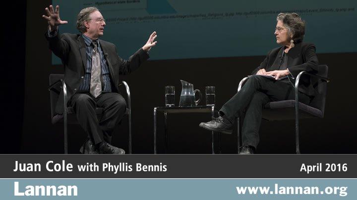 Juan Cole with Phyllis Bennis, 6 April 2016